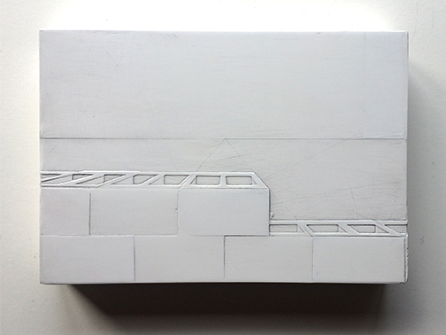 White Block Wall horizontal