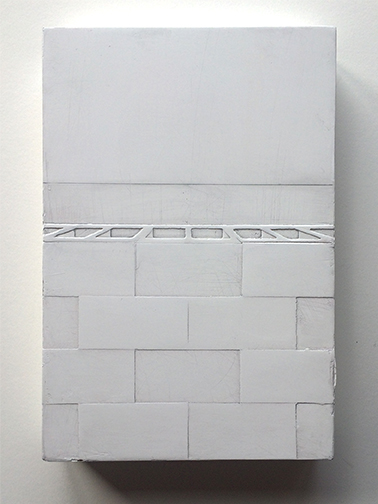 White Block Wall vertical